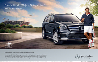 Roger Federer Serves Up Creative to Launch All-New Mercedes-Benz 2013 GL-Class