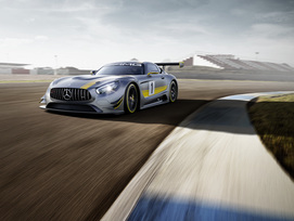 The new Mercedes-AMG GT3 race car