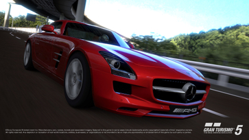 Mercedes AMG Driving Academy Features Gran Turismo® 5 Mercedes SLS AMG Racing Demo