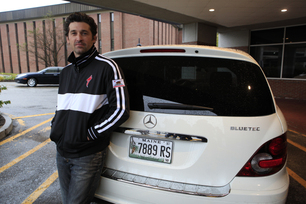 Patrick Dempsey with Mercedes-Benz R320 BlueTEC